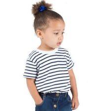 Magliette, maglie e camicie bianche a fantasia righe a manica corta per bambini dai 2 ai 16 anni