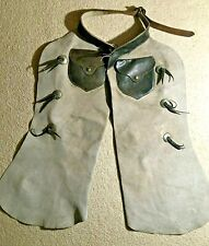 Vintage Western Cowboy Leather Chaps - Colorado Saddlery Company Denver