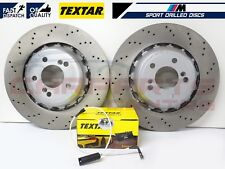 FOR BMW M2 M3 M4 REAR SLOTTED PERFORMANCE DRILLED OEM BRAKE DISCS 370mm PAIR