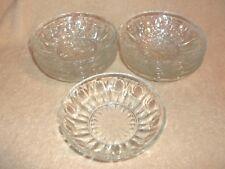 8 Vintage Colony Glass REGENCY Clear Dessert Bowls Thumbprint Vertical Dot