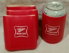 Miller High Life Beer Can Cozy (4qty) Cooler Coozie Coolie Huggie -A1