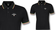 POLO AQUILA ITALIA TRICOLORE,BLACK,SIZE MEDIUM