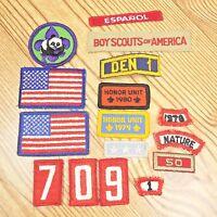 Vintage Boy Scout Patch Lot Of 16 Badges BSA