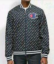 NEW Champion 3XL Satin Baseball Jacket Windbreaker Varsity Sweater logo spellout