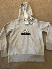 Vintage Adidas Womens Hoodie Training Gray New With Tags Medium