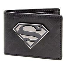 Official Dc Comics Superman Symbol Badge Black ID & Card Wallet *SECOND*