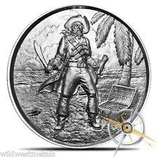 El Capitan 2OZ Ultra High Relief Round Pirate **IN-HAND** Elemental Mint Silver