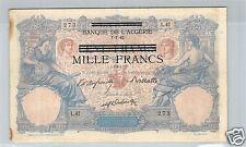 TUNISIE 1000 FRANCS / 100 FRANCS BLEU ET ROSE 7.7.1892 L.47 N° 1160273
