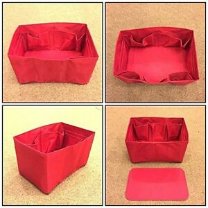 Speedy 35 LV  Bag Organizer Insert  Base Shaper RED COLOR Handbag Accessories