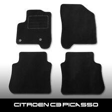 Fußmatten Citroen C3 Picasso (seit 2009) Schwarz Autoteppiche nadelfilz 4tlg