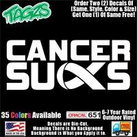 Cancer Sucks Awareness DieCut Vinyl Window Decal Sticker Car Truck SUV JDM