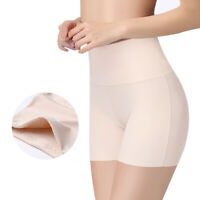 Women Seamless Safety Short Pants Mid Waist Ice Silk Traceless Breathable Briefs