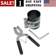 New Ratchet Style Piston Ring Compressor & Installer Pliers Engine Tool US