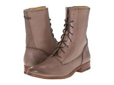 New in Box FRYE Womens Melissa Lace Up Cement Tan Leather Boots Size 7.5 $288