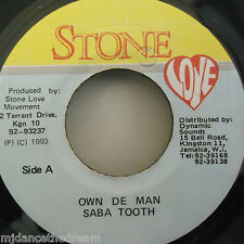 "SABA TOOTH - Own De Man - 7"" Single JA PRESS"