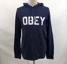 Obey Men's Hoodie Fordam Dark Navy Blue Size M NWT Shepard Fairey