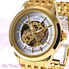 Gold Plated Case Mechanical (Automatic) Unisex Wristwatches