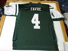 NEW YORK JETS BRETT FAVRE #4  REEBOK BRAND FOOTBALL JERSEY-LG HALL OF FAME RARE