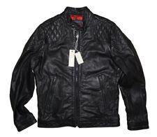 DIESEL Laleta Black Leather Jacket Size M 100 Authentic