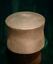 869ANTIQUE VINTAGE WOODEN HAT CAP MILLINERY BLOCK WOOD FORM HAT MAKING METALLIC