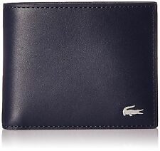 NEW LACOSTE MENS'S NAVY BLUE BILLFOLD CREDIT CARD WALLET