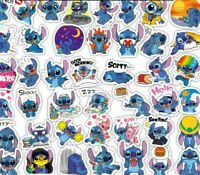 50pc No repeat lovely Lilo & Stitch Stickers Luggage Decal Ornament Mark