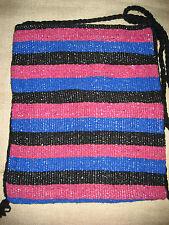 Blanket Bag/Purse/Hippie Morral Colorful Woven Cotton Mexican Textile Art Large