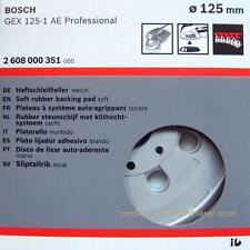 Bosch gex 125-1 ae soft soutien ponçage caoutchouc base pad plaque 2608000351