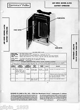 Air King Model A-426 Battery Operated -Sams PhotoFact Tech Doc