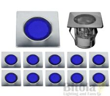 BRILLIANT ASTA 30 10x STAINLESS STEEL LED DECK LIGHTS 10 PACK DIY SQUARE BLUE