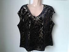 ladies opus black/gold top size xxl