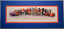 DISNEY CHARACTERS COLLAGE PROFESSIONALLY MATTED PRINT Incredibles Toy Story Cars