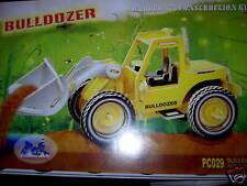 """puzzle en 3D en couleur """"bulldozer"""""""