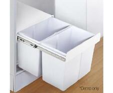 30L Pull Out Rubbish Garbage Waste Trash Cupboard Cabinet Kitchen Bin 2 Sections