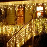 Curtain Icicle String Lights LED Wedding Christmas Birthday Party Decoration