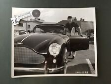 Original 1950's 8 x 10 Publicity Photo Rick Nelson With Aston Martin Sports Car