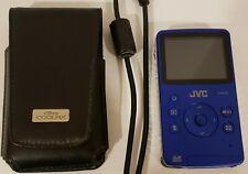 1 Blue JVC HD Memory Camera GC-FM1AU Pocket Video and Photo w/Case & Cord