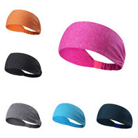 Polyester Wide Sports Headband Stretch Elastic Yoga Running Headwrap Hair Band