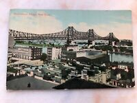 Vintage Postcard Queensboro Bridge NYC & Queens LIC Posted & Stamped 1912 Coil