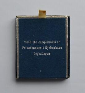 1958 denmark 2 kroner Margrete Birthday Silver Coin BOX