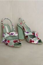 NEW Anthropologie Paola d' Arcano Tulip Ortensia Heels Size 37