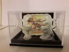 Tablett mit Reiter / Becher / Pferd Miniatur von Reutter Porzellan