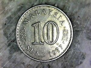 1977 MALAYSIA 10 SEN--COPPER NICKEL COMPOSITION COIN KM# 3
