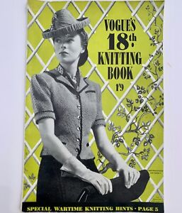 40s vintage Fashion Hand-Knits Vogue's 18th Knitting Book 1941 wartime ww2