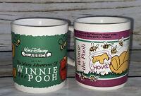 Vintage Pair of Winnie the Pooh Disney Mugs - Staffordshire Tableware Bees Honey