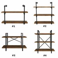 Bookshelf 2/3 Tier Furniture Stand Rustic Pipe Shelving Unit Industrial Bracket