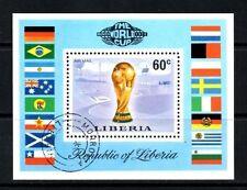 (Ref-8762) Liberia 1974 Football World Cup Miniature Sheet SG.MS1209 Used  (CTO)