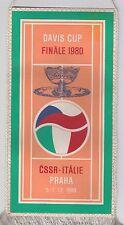Orig.Wimpel    Tennis   DAVIS CUP 1980  FINALE  CSSR - ITALIEN  !!  SEHR SELTEN