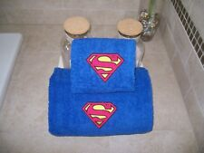 Superman Logo Personalized -2 Piece Bath Towel Set Superman Logo