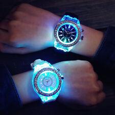 Women Geneva LED Backlight Quartz Crystal Wrist Watch Sport Watch Waterproof NEW
